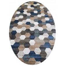 Ковер D579 Beige-Blue-ov Matrix (Матрикс) Merinos