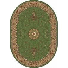 Ковер классический овальный Buhara (Бухара) D034 Green-ov Merinos (Меринос) российского производства
