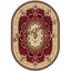 Ковер классический овальный Buhara (Бухара) D058 Red-ov Merinos (Меринос) российского производства