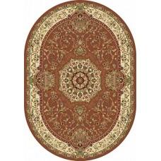 Ковер классический овальный Buhara (Бухара) D037 D.Pink-ov Merinos (Меринос) российского производства