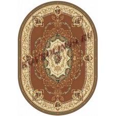 Ковер классический овальный Buhara (Бухара) D058 D.pink-ov Merinos (Меринос) российского производства