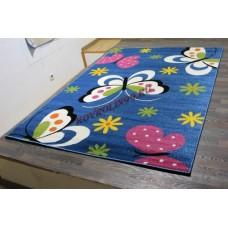 "Детский ковер Crystal 0772 Blue ""Бабочки"" Merinos"