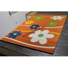 """Детский ковер Crystal 1021 Orange """"Ромашки"""" Merinos"""