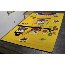 """Детский ковер CRYSTAL 2740 Yellow """"Совы"""" Merinos"""