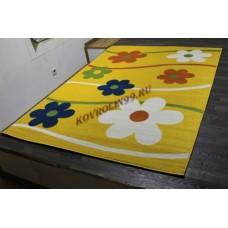 """Детский ковер Crystal 1021 Yellow """"Ромашки"""" Merinos"""