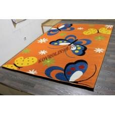 "Детский ковер Crystal 0772 Orange ""Бабочки"" Merinos"