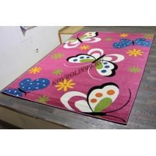 "Детский ковер Crystal 0772 Purple ""Бабочки"" Merinos"