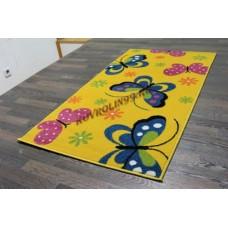 "Детский ковер Crystal 0772 Yellow ""Бабочки"" Merinos"