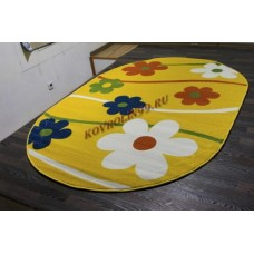 "Детский ковер Crystal 1021 Yellow ov ""Ромашки"" Merinos"