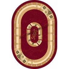 Современный овальный ковер 5263 Red-ov Da Vinci российского производства из хит-сета