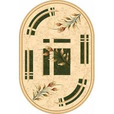 Современный овальный ковер 5442 Green-ov Da Vinci российского производства из хит-сета