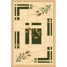 Современный прямоугольный ковер 5442 Green Da Vinci российского производства из хит-сета