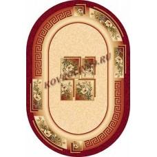Современный овальный ковер W010 Red-ov Da Vinci российского производства из хит-сета
