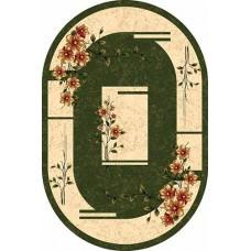 Современный овальный ковер D024 Green-ov Da Vinci российского производства из хит-сета