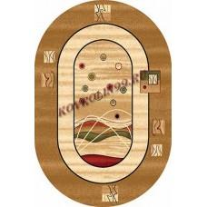 Современный овальный ковер 5409 Beige-ov Da Vinci российского производства из хит-сета