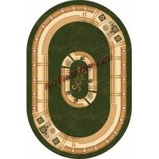 Современный овальный ковер 5263 Green-ov Da Vinci российского производства из хит-сета