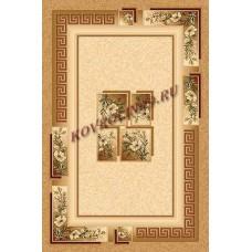 Современный прямоугольный ковер W010 Beige Da Vinci российского производства из хит-сета