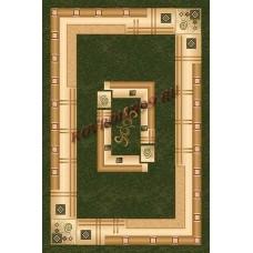 Современный прямоугольный ковер 5263 Green Da Vinci российского производства из хит-сета