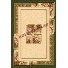 Современный прямоугольный ковер W010 Green Da Vinci российского производства из хит-сета