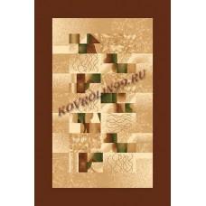 Современный прямоугольный ковер D143 Brown Da Vinci российского производства из хит-сета