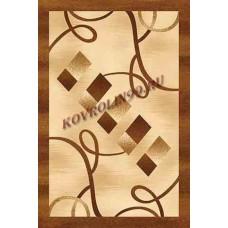 Современный прямоугольный ковер D054 Beige-Brown Da Vinci российского производства из хит-сета