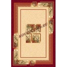 Современный прямоугольный ковер W010 Red Da Vinci российского производства из хит-сета