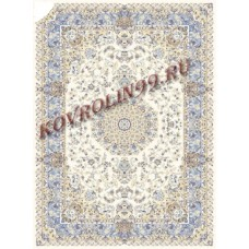 Иранские ковры Ковер 0502a_cream-blue Mashhad Ardenal carpet Co