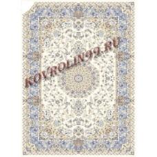 Иранские ковры Ковер 0502a_cream-blue Mashhad Ardenal carpet Co