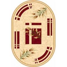Ультрасовременный овальный ковер ka5442 Red-ov Kamea Carving Merinos российского производства из хит-сета