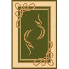 Ультрасовременный прямоугольный ковер A704 Green Kamea Carving Merinos российского производства из хит-сета