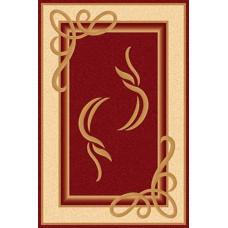 Ультрасовременный прямоугольный ковер A704 Red Kamea Carving Merinos российского производства из хит-сета