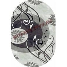 Ковры MEGA carving 4780_GRAY_oval Меринос Ростовские