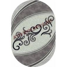 Ковры MEGA carving 4797_GRAY_oval Меринос Ростовские