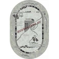 Ковры SILVER 5305_GRAY_ov Меринос Ростовские