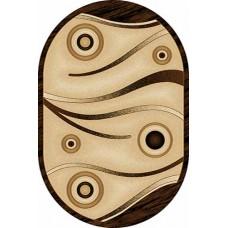 Современный прямоугольный ковер D050 Beige-ov Vision Deluxe carving российского производства из фризе