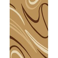 Современный прямоугольный ковер V804 Mustard Vision Deluxe carving российского производства из фризе