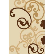 Современный прямоугольный ковер V805 Cream Vision Deluxe carving российского производства из фризе