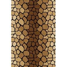 Современный прямоугольный ковер D046 Brown Vision Deluxe carving российского производства из фризе