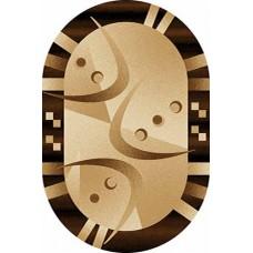 Ковер D089 Beige-ov Vision Deluxe carving (Визион Делюкс) Merinos