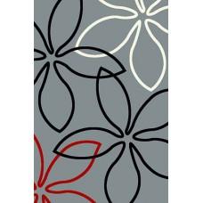 Современный прямоугольный ковер V806 Gray Vision Deluxe carving российского производства из фризе