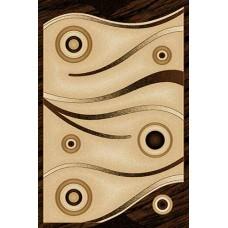 Современный прямоугольный ковер D050 Beige Vision Deluxe carving российского производства из фризе