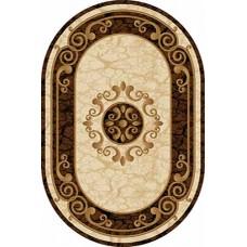 Ковер D045 Cream-Brown-ov Vision Deluxe carving (Визион Делюкс) Merinos