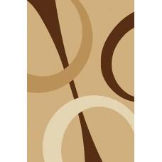 Современный прямоугольный ковер V810 Beige Vision Deluxe carving российского производства из фризе