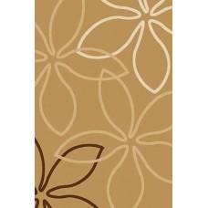 Современный прямоугольный ковер V806 Mustard  Vision Deluxe carving российского производства из фризе