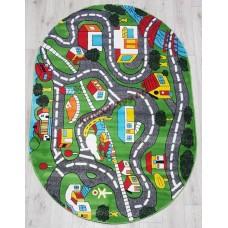 Детские ковры(турция) s0086a green green_ov Турецкие